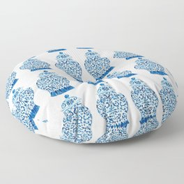 Blue and White Ginger Jars  Floor Pillow