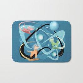 Atomic Rocket Powered Space Dogs Bath Mat