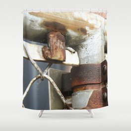 Rusty Chain Link Fence Shower Curtain