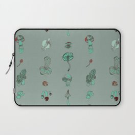 Misty Fungal Mushroom Fungus Watercolor Agaric Morel Laptop Sleeve