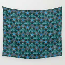 Geometric Watercolor Star Pattern Wall Tapestry