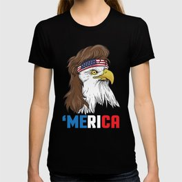 Patriotic Mullet Eagle | Merica Stars and Stripes T-shirt