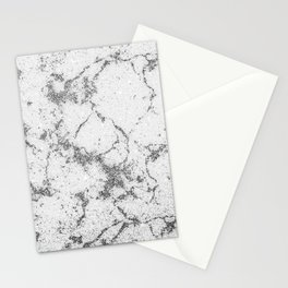 Abstract Luxury Gray Silver Glitter Marble Pattern Stationery Cards