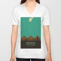 moonrise kingdom V-neck T-shirts featuring MOONRISE KINGDOM by VAGABOND