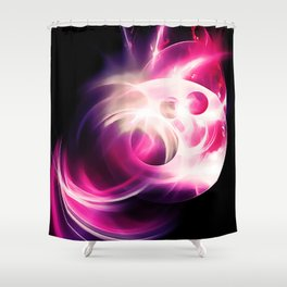 abstract fractals 1x1 reacmag Shower Curtain