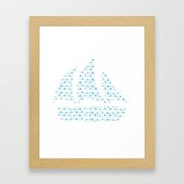 Boats in a boat Framed Art Print