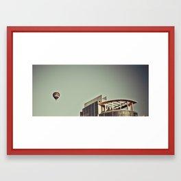 Hot Air Balloon The Melburnian Framed Art Print