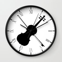 Fiddle Silhouette Wall Clock