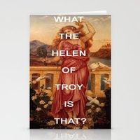 helen Stationery Cards featuring Triple Helen by Beastie Boys Art History