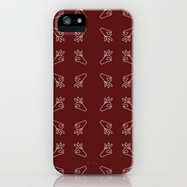 Repeating Okay Hand Gesture - Maroon iPhone Case