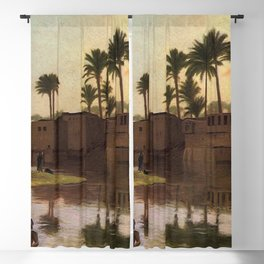 Jean-Leon Gerôme - Bathers by the Edge of a River Blackout Curtain