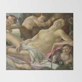 "Sandro Botticelli ""Venus and Mars"" Mars Throw Blanket"