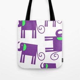 Elephants 78q Tote Bag