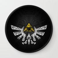 zelda Wall Clocks featuring Zelda Hyrule by Art & Be