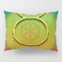 TAURUS Flower of Life Astrology Design Pillow Sham