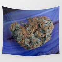 marijuana Wall Tapestries featuring Jenny's Kush Medicinal Marijuana by BudProducts.us