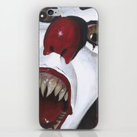 pennywise iPhone & iPod Skins featuring Pennywise by Kristen Champion