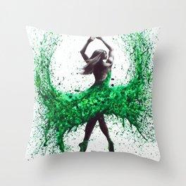 An Emerald Love Throw Pillow