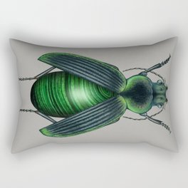 Malachite Beetle Rectangular Pillow