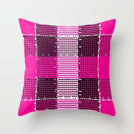 Licorice Bytes, No.14 in Black and Pink Throw Pillow