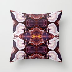 Agate Red in the Face. Throw Pillow
