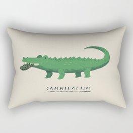 croc cannibalism Rectangular Pillow