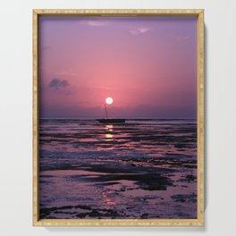 Zanzibar Island Sunrise Serving Tray