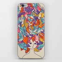 birdy iPhone & iPod Skins featuring Birdy by Julia Sonmi Heglund