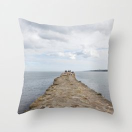 Sea wall St. Andrews Throw Pillow