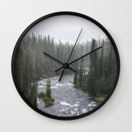 Yellowstone Forest - Nature Photography Wall Clock