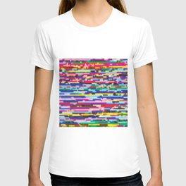 Glitch colorful background T-shirt