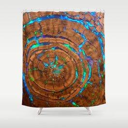 Sea of blue opal Shower Curtain