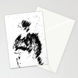 Abstract Soldier (Black) Stationery Cards