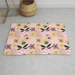 Beautiful Cut Out Flowers XII Rug