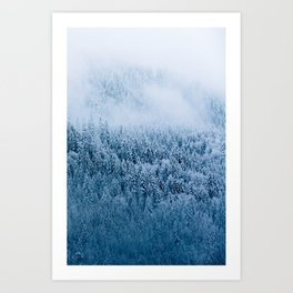 Moody Winter Forest in the German Alps – Landscape Photography Art Print