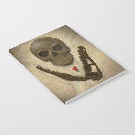 Impermanence - Velociraptor and Human Skull Notebook