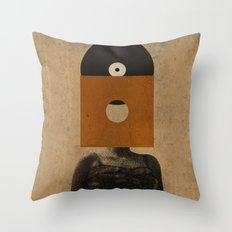 VINYL RECORD HEAD Throw Pillow