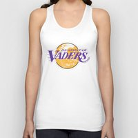 lakers Tank Tops featuring L.A. Vaders by Ant Atomic