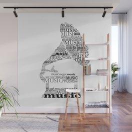 Typographic gramophone Wall Mural
