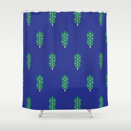 Vegetable: Brussels Sprout Blue Shower Curtain