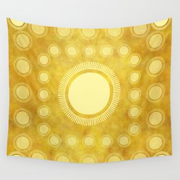 """Gold & Yellow Ethnic Sun (Pattern)"" Wall Tapestry"