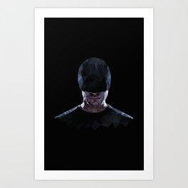 Low Poly Daredevil Art Print