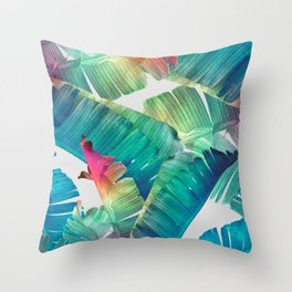 Banana Leaf Fantasy Throw Pillow