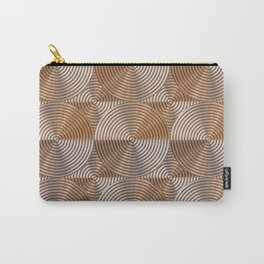Shiny golden embossed metal pattern Carry-All Pouch