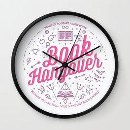 Book Hangover (Pink) Wall Clock