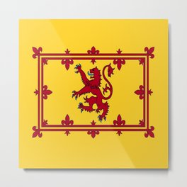 RED LION & YELLOW ROYAL BANNER OF SCOTLAND Metal Print