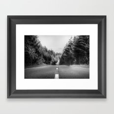 Denbigh Moors - Evo Triangle, B4501 Road Framed Art Print
