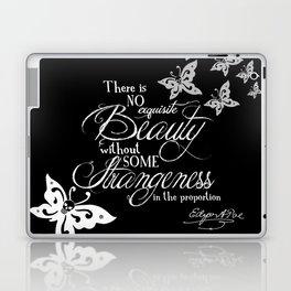 Strange Skullerflies - EA Poe Quote Laptop & iPad Skin