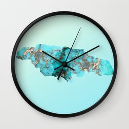 Jamaica Turquoise Wall Clock
