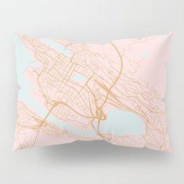 Bergen map, Norway Pillow Sham